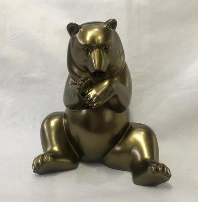 beer -beeld - goud