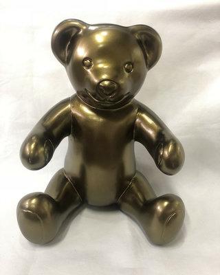 Teddybeer zittend - goud