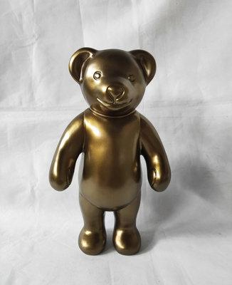 Teddybeer - staand - goud