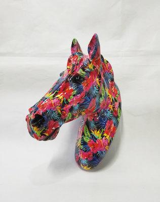 Paarden hoofd - flower design