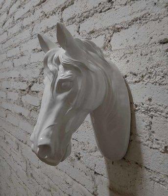Paarden hoofd - wit wand decoratie beeld