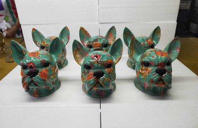 Franse bulldog kop - kunstdesign