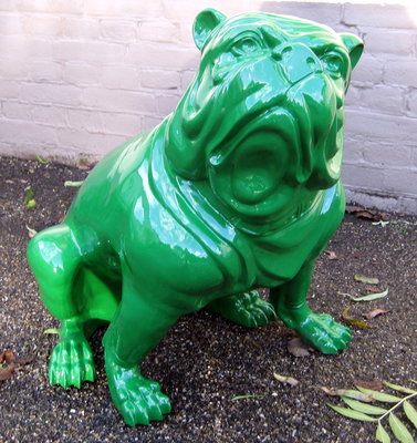 engelse bulldog hoogglans groen