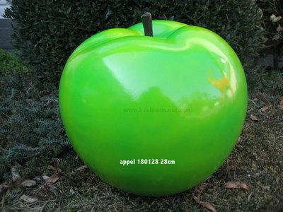 Appel polyester groen hoogglans met  28cm