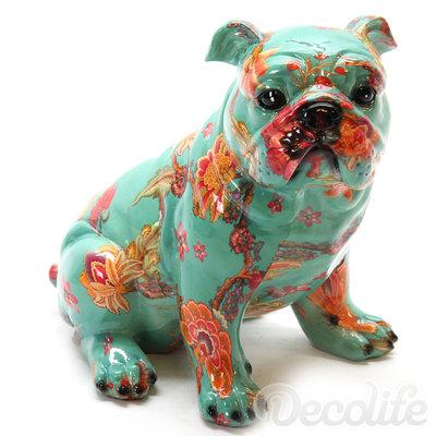 Zittende Engelse Bulldog - Flower