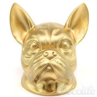 Franse bulldog kop - goud