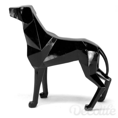 Lowpoly dog - zwart