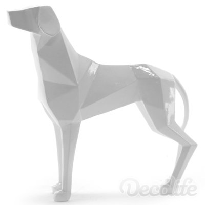 Lowpoly dog - wit