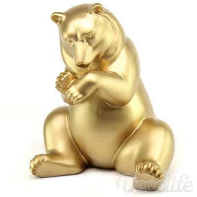 beer Lars -beeld - goud