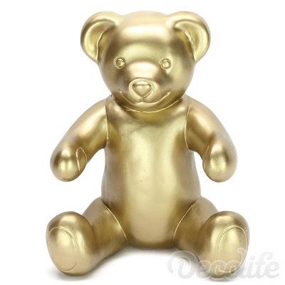 Teddybeer Banjo zittend - goud