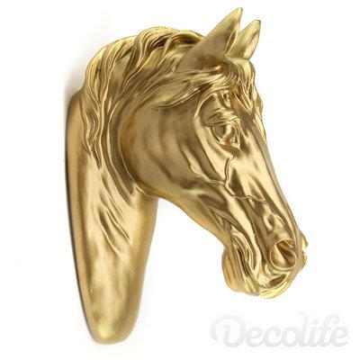 Paarden hoofd - goud