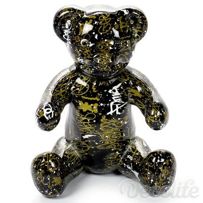 Teddybeer  Banjo kunstbeeld zittend - streetart edition