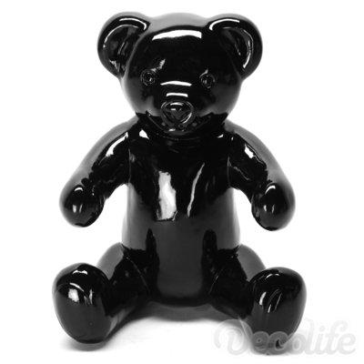 Teddybeer Banjo zittend - zwart