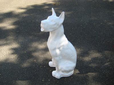 Duitse (Deense )dog kunsthars wit hoogglans 95cm