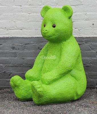 beer zittend polyester 80cm groen