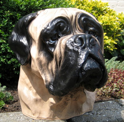 Bordeau hond decoratie beeld (urn) 38cm