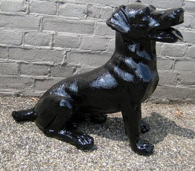 jack russell zittend zwart hoogglans 47cm