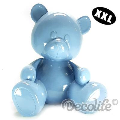 Teddybeer XXL - my belle - blauw