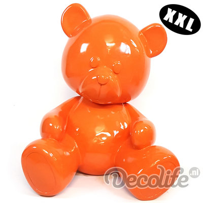 Teddybeer XXL - my belle - oranje