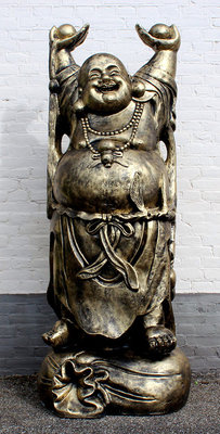 Boeddha super groot Happy Boeddha handen hoog