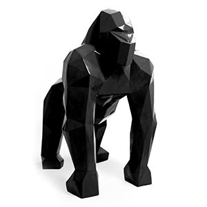 prachtig uniek beeld gorilla origami zwart