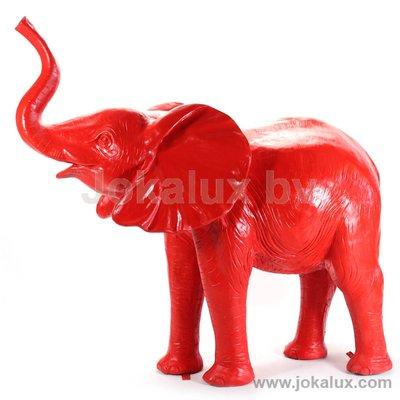 olifant polyester kunst beeld 165cm ROOD