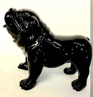Engels bulldog Bobby kunst beeld zwart