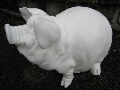 spaarvarken 50 cm xl wit lak