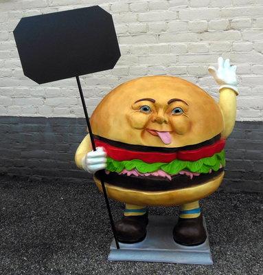 hamburger met krijtbord