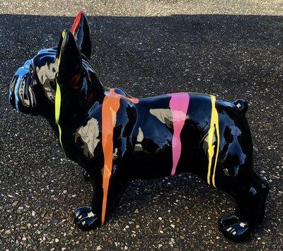 Franse bulldog zwart dripping  50cm