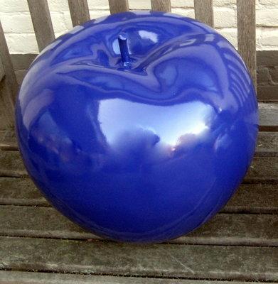 Appel polyester donker blauw hoogglans met  28cm