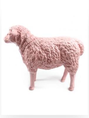 schaap-kunst-beeld 80cm roze