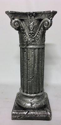 Zuil-kolom- sokkel - oud zilver