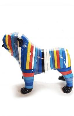 Engelsebull Dog Spiky Picasso stijle multistreep