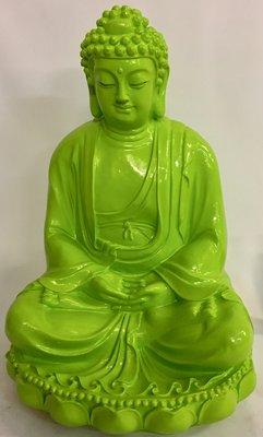 Boeddha beeld Lotus 56 cm groen