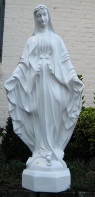 Maria Beeld 101cm wit polyester