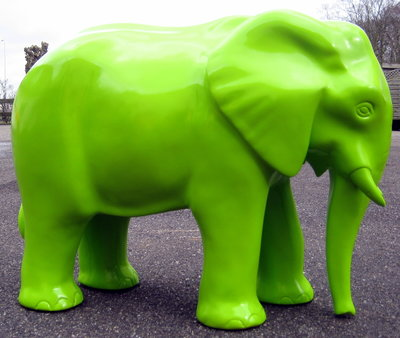 Olifant Ollie polyester beeld 75cm