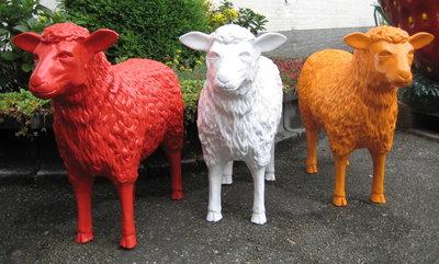 schaap-kunst-beeld 80cm rood