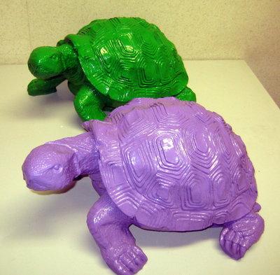 schildpad polyester kleur paars 30cm