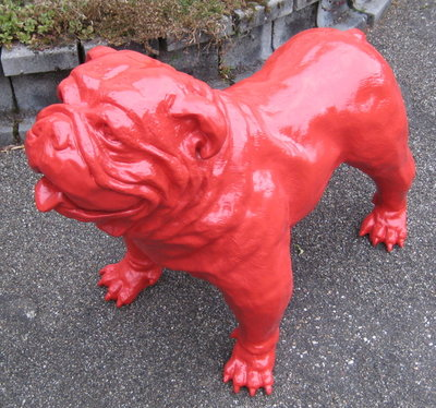 engelse bulldog Spike kunstbeeld