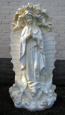 maria beeld met engelen polyester beeld 122cm