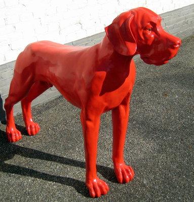 Duits -Deense dog -polyester-beeld-rood
