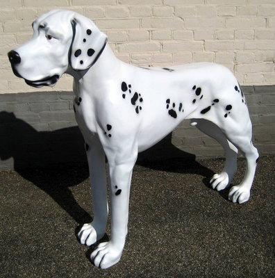 Deens-Duitse Dog-Polyester-Beeld-op ware Grootte 125cm