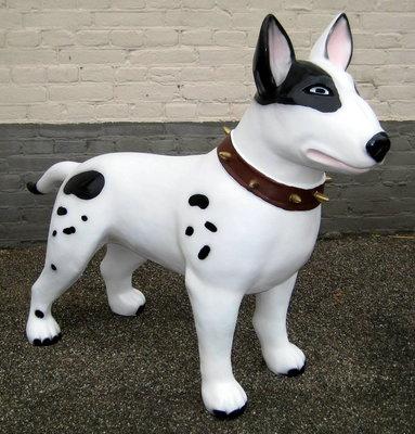 Bull terrier -Design-beeld-kunsthars 115cm