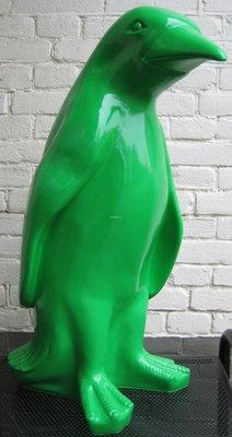 pinquin groene polyster pinguin beeld