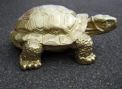 schildpad -goud-polyester -verguld-reuzenschildpad
