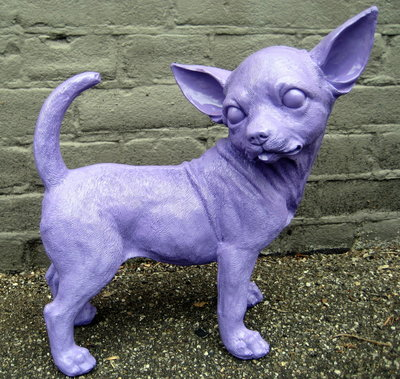 Chihuahua beeld polyester violet
