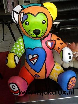 kunst beer zittend  35cm