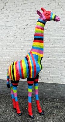 Giraffe 210cm -kunst beeld-Bohemian
