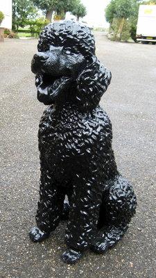 Poedel - zwart polyester beeld